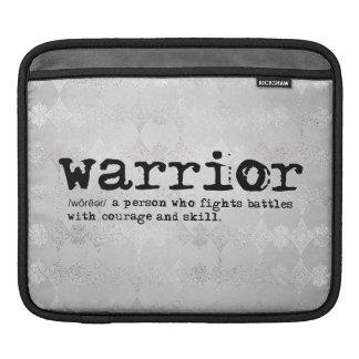 Warrior Definition iPad Sleeve