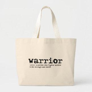 Warrior Definition Large Tote Bag