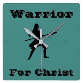 Warrior For Christ Clock Female
