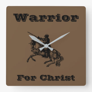 Warrior For Christ Clock Male
