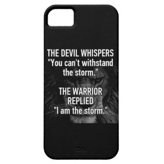 Warrior - I Am The Storm - Lion Beast Motivational iPhone 5 Cover