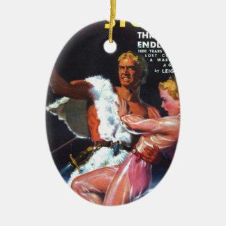 Warrior in White Fur Ceramic Ornament