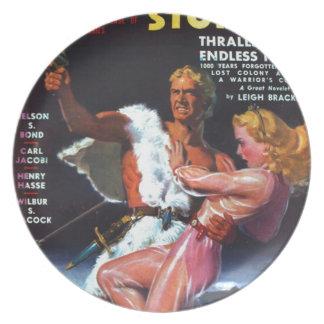 Warrior in White Fur Plate