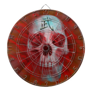 Warrior Kanji skull Dartboard