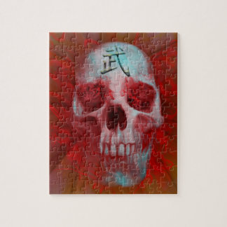 Warrior Kanji skull Jigsaw Puzzle