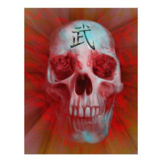 Warrior Kanji skull Letterhead