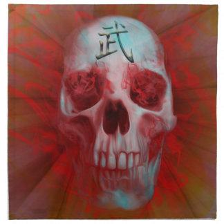 Warrior Kanji skull Napkin