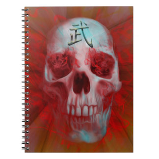 Warrior Kanji skull Notebooks