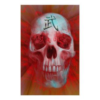 Warrior Kanji skull Stationery