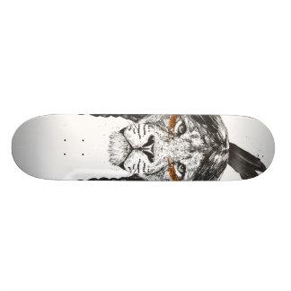 Warrior lion skateboard deck