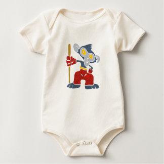 Warrior Monkey . Baby Bodysuit