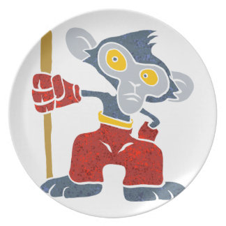 Warrior Monkey . Party Plate