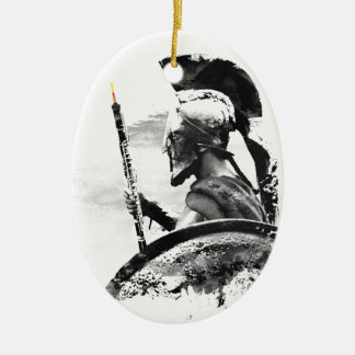 Warrior Oboe Player Ceramic Oval Ornament