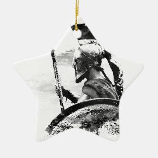 Warrior Oboe Player Ceramic Star Ornament