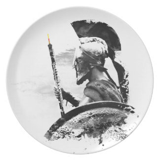 Warrior Oboe Player Party Plate