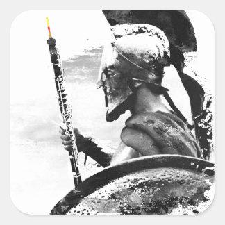 Warrior Oboe Player Square Sticker