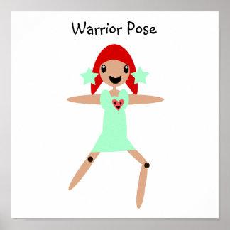 Warrior Pose Poster