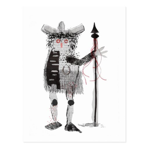 Warrior Post Card