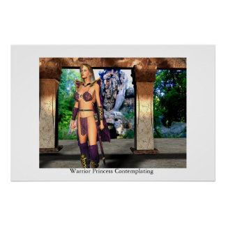 Warrior Princess Contemplating Poster