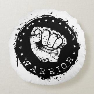 warrior round pillow
