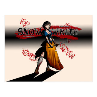 warrior snow white post card