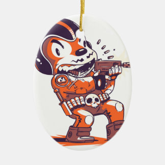 Warrior Spacial Ceramic Ornament