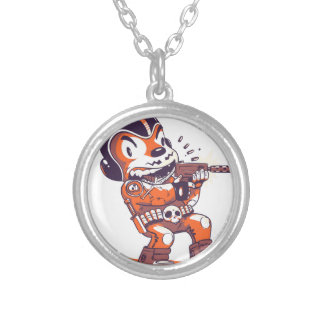 Warrior Spacial Silver Plated Necklace