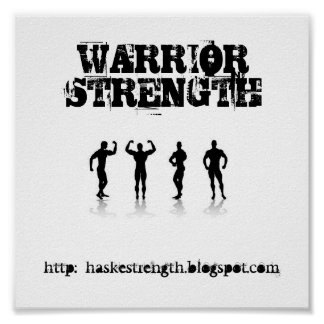 WARRIOR STRENGTH POSTER
