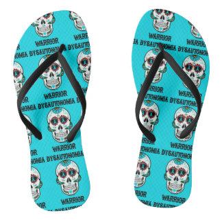 Warrior/Sugar skull...Dysautonomia Flip Flops