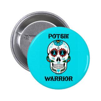 Warrior/Sugar skull...P.O.T.S. 2 Inch Round Button