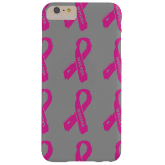 Warrior/ torn ribbon...Breast Cancer Barely There iPhone 6 Plus Case