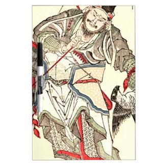Warrior - Totoya Hokkei 魚屋 北渓 Dry Erase Whiteboard