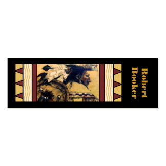 Warrior with Headdress and Shield Bookmarks Business Cards
