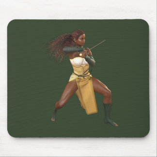 Warrior Woman Mouse Pad Home & Office