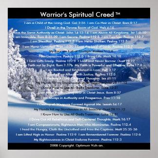 WarriorsCreed Warrior's Spiritual Creed Poster