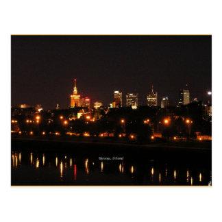 Warsaw at Night postcard