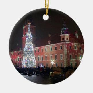 Warsaw Christmas lights Ceramic Ornament