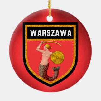 Warsaw  Flag Ceramic Ornament