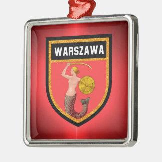 Warsaw  Flag Metal Ornament