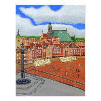 Warsaw-Old Town Postcard
