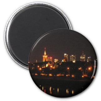 Warsaw, Poland night view Magnet