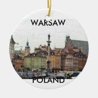 WARSAW POLAND OLD TOWN CERAMIC ORNAMENT