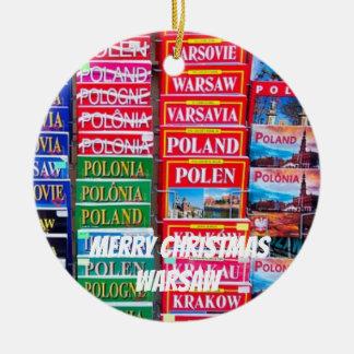 Warsaw Scenic Porcelain Christmas Ornament