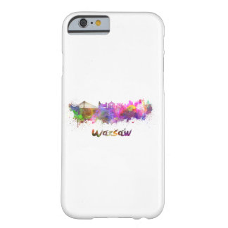 Warsaw skyline in watercolor barely there iPhone 6 case