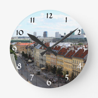 Warsaw View Round Clock