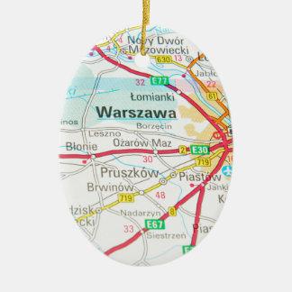 Warsaw, Warszawa  in Poland Ceramic Ornament