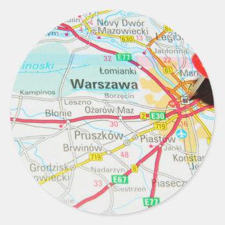Warsaw, Warszawa  in Poland Classic Round Sticker