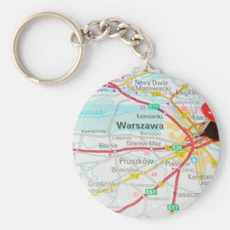 Warsaw, Warszawa  in Poland Keychain