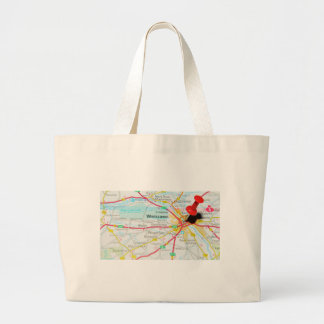 Warsaw, Warszawa  in Poland Large Tote Bag