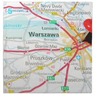 Warsaw, Warszawa  in Poland Napkin